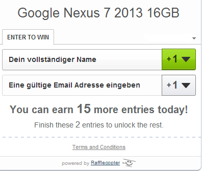 Google nexus Gewinnspiel