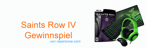 Saints Row IV 4 Razer Gewinnspiel Header