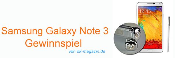 Smaung galaxy Note 3 OK Gewinnspiel Herad