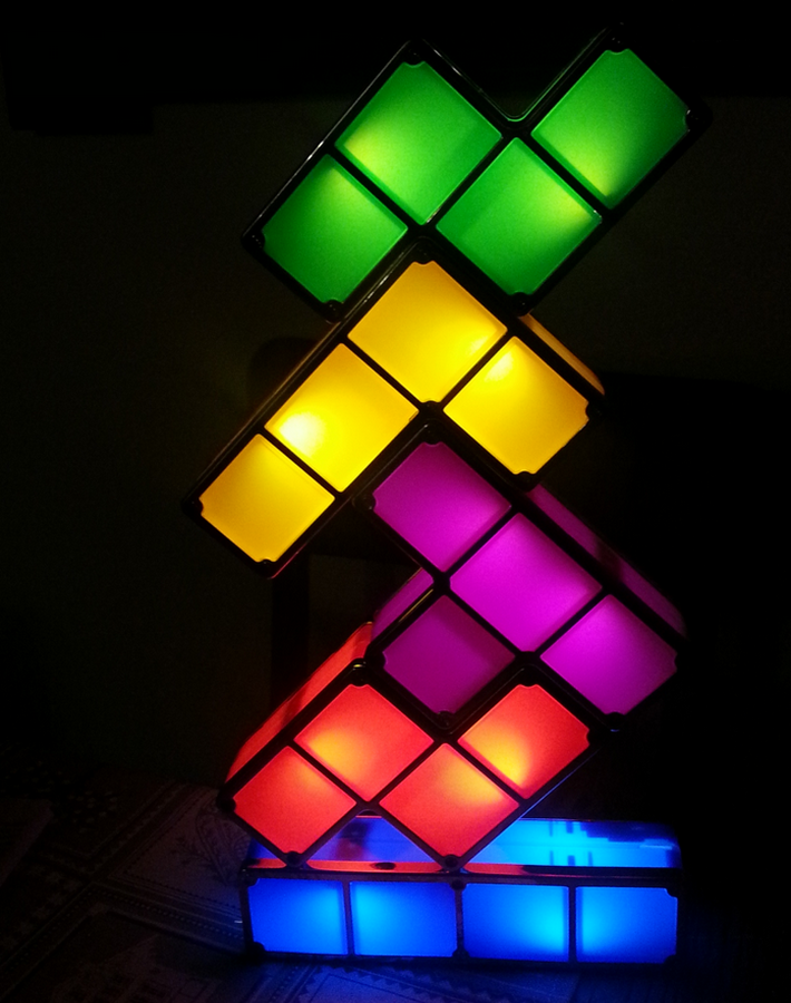 tetris lampe im tech win review tech win der technik blog. Black Bedroom Furniture Sets. Home Design Ideas